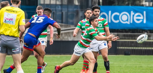 Rabbitohs Jersey Flegg fall short against Knights in high-scoring thriller