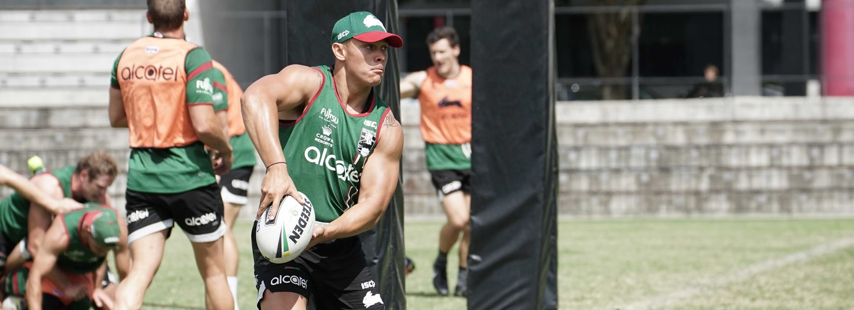 Tyrell Fuimaono is getting closer to full fitness as he steps up his pre-season training