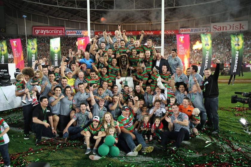Forty-three years of pain and suffering was alleviated when the 2014 Rabbitohs held aloft the Premiership trophy, securing the Club's 21st title.
