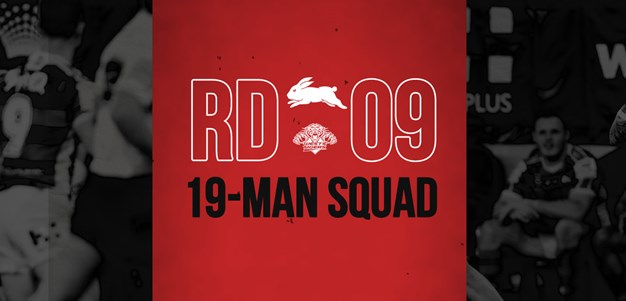 Rabbitohs update 19-man squad for round nine