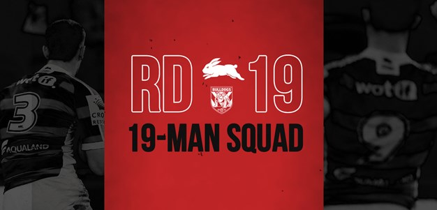Rabbitohs update 19-man squad for Round 19
