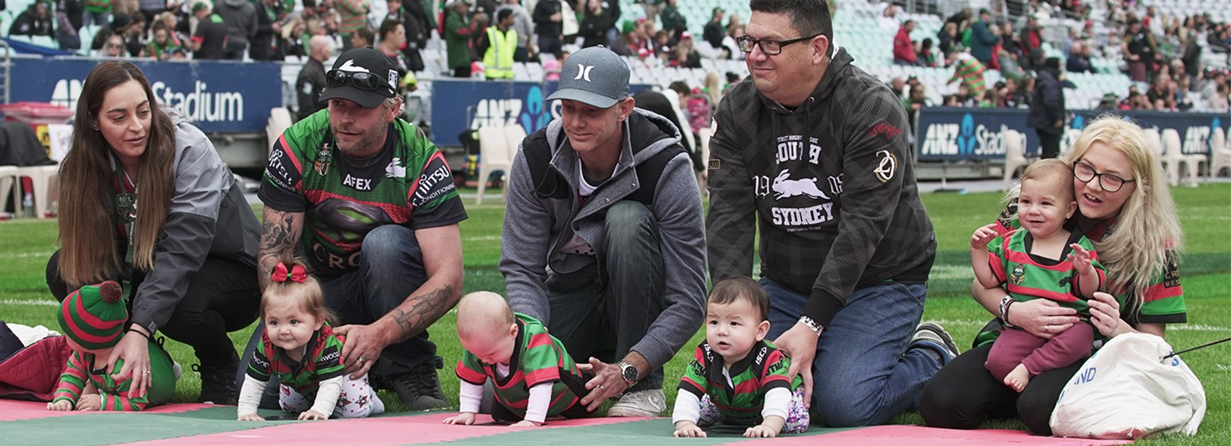 Rabbitohs' show stopping Baby Race a hit