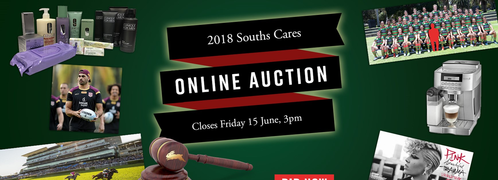Act now! The Souths Cares auction is live