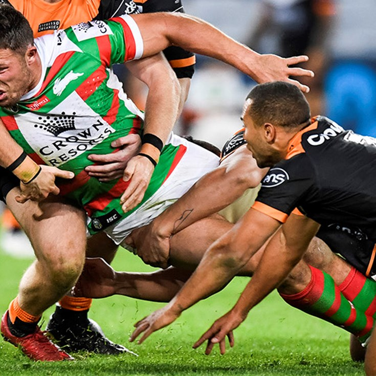Rabbitohs' nine-game winning run ended by Tigers