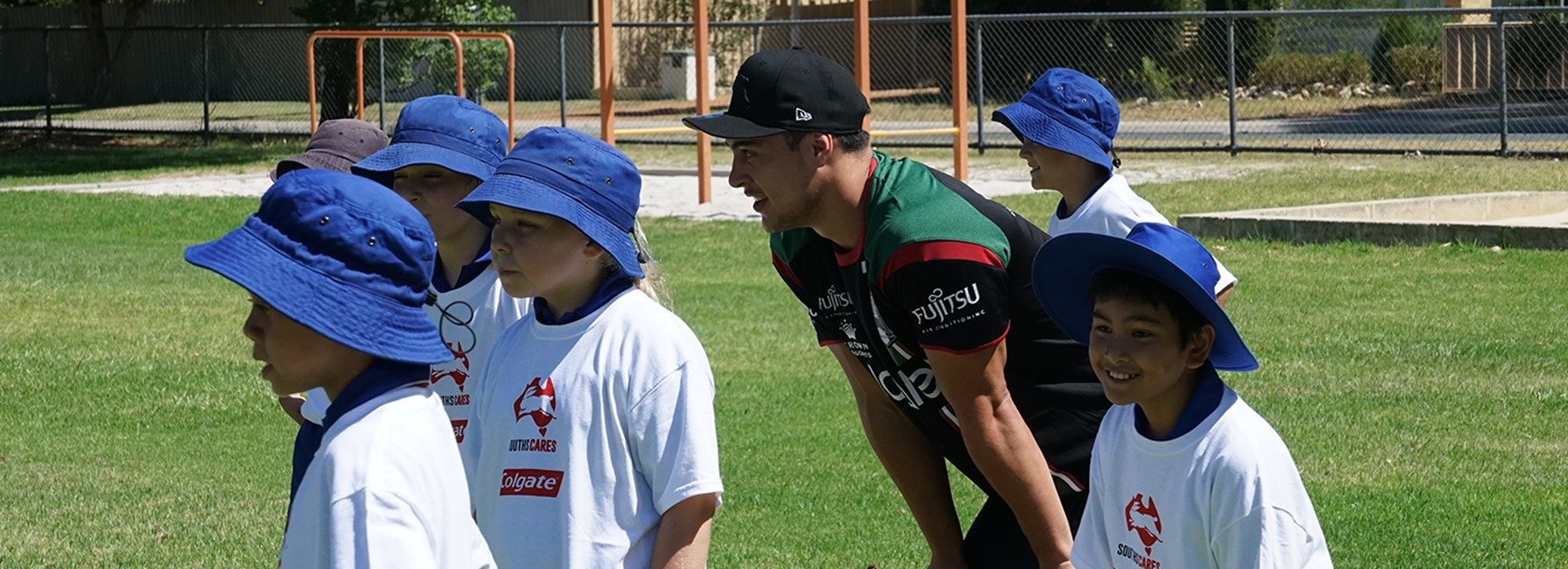 Rabbitohs teach health tips in Perth schools