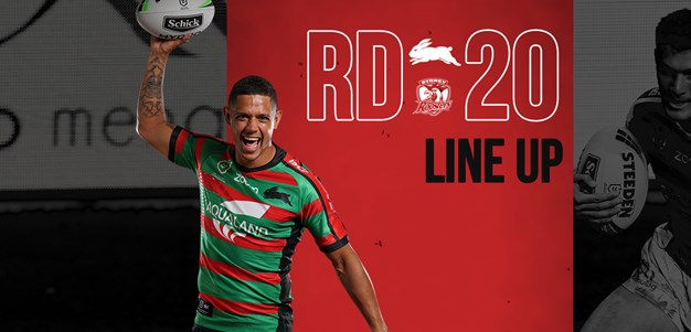 Round 20 Line Up vs Roosters
