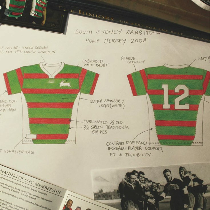 Evolution of the Rabbitohs Jersey