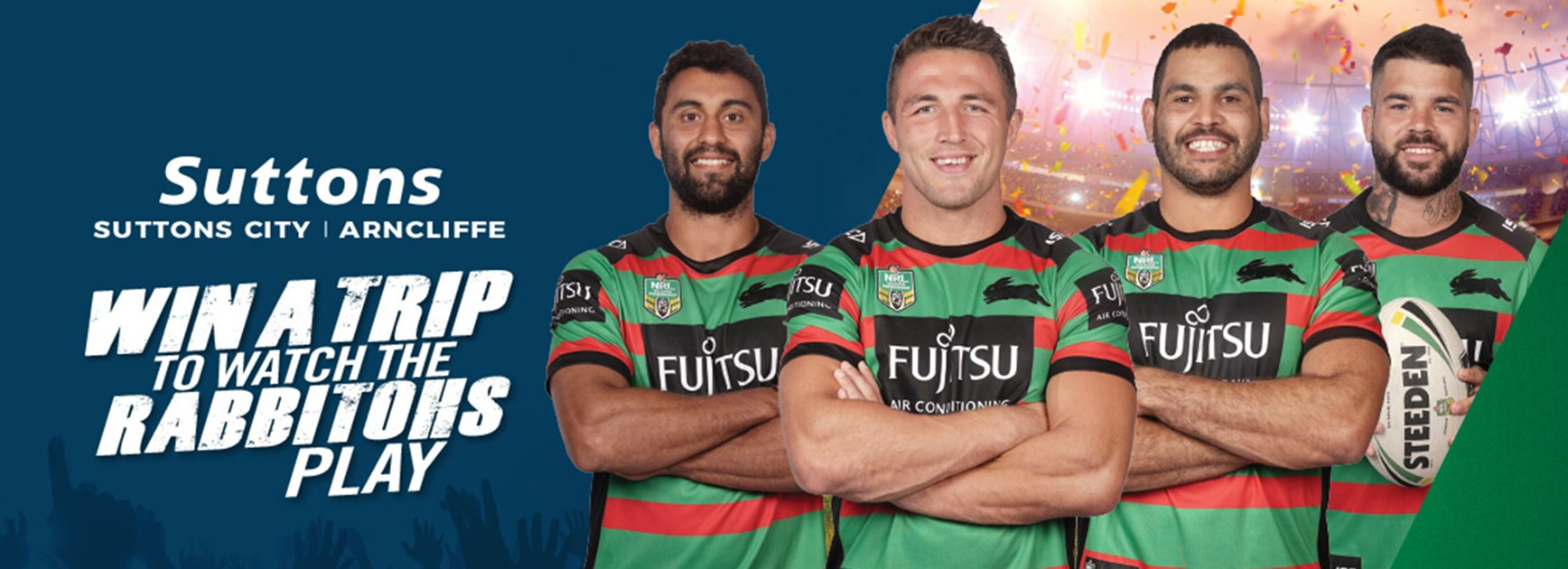 Win a trip to see the Rabbitohs play in 2019 thanks to Suttons