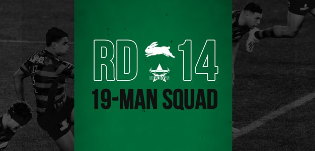 Rabbitohs update 19-man squad for round 14