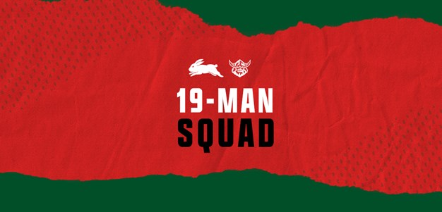 Rabbitohs 19-Man Squad for Round Eight