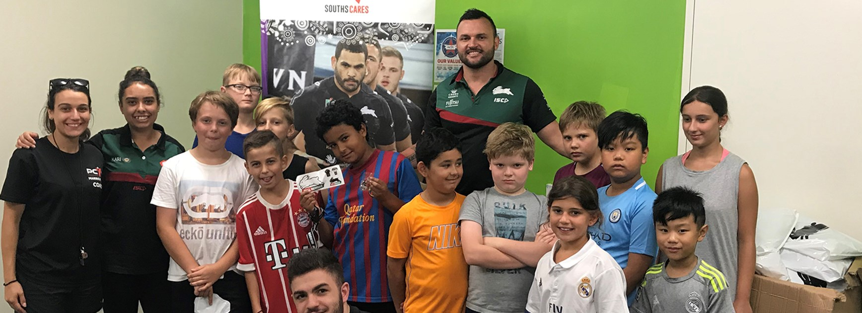 Marrickville PCYC get visit from Champion