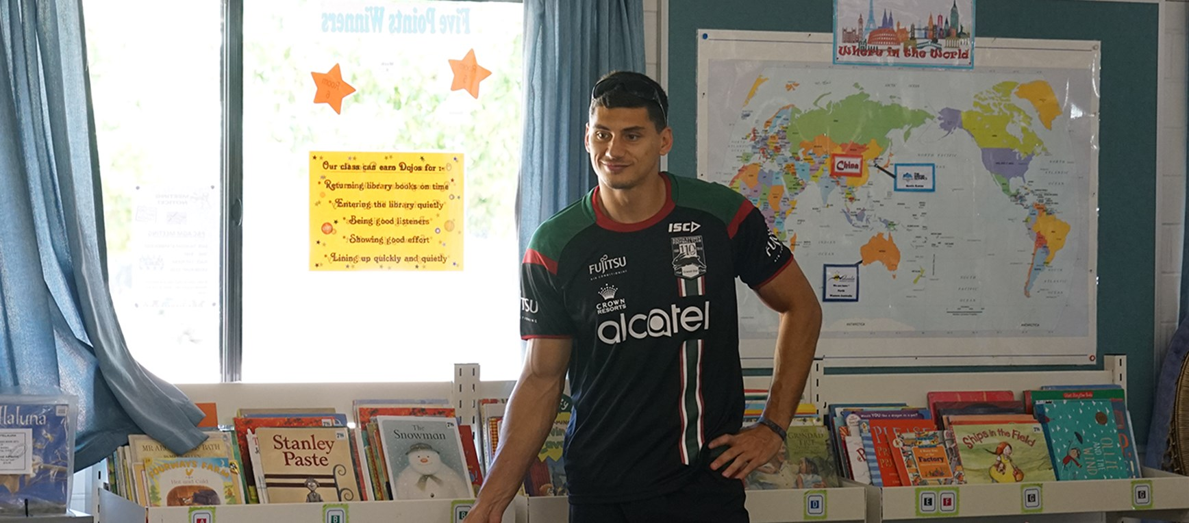 Gallery - Rabbitohs call in at Perth schools