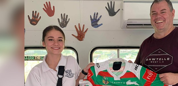 Souths Cares put a smile on young Callee's face