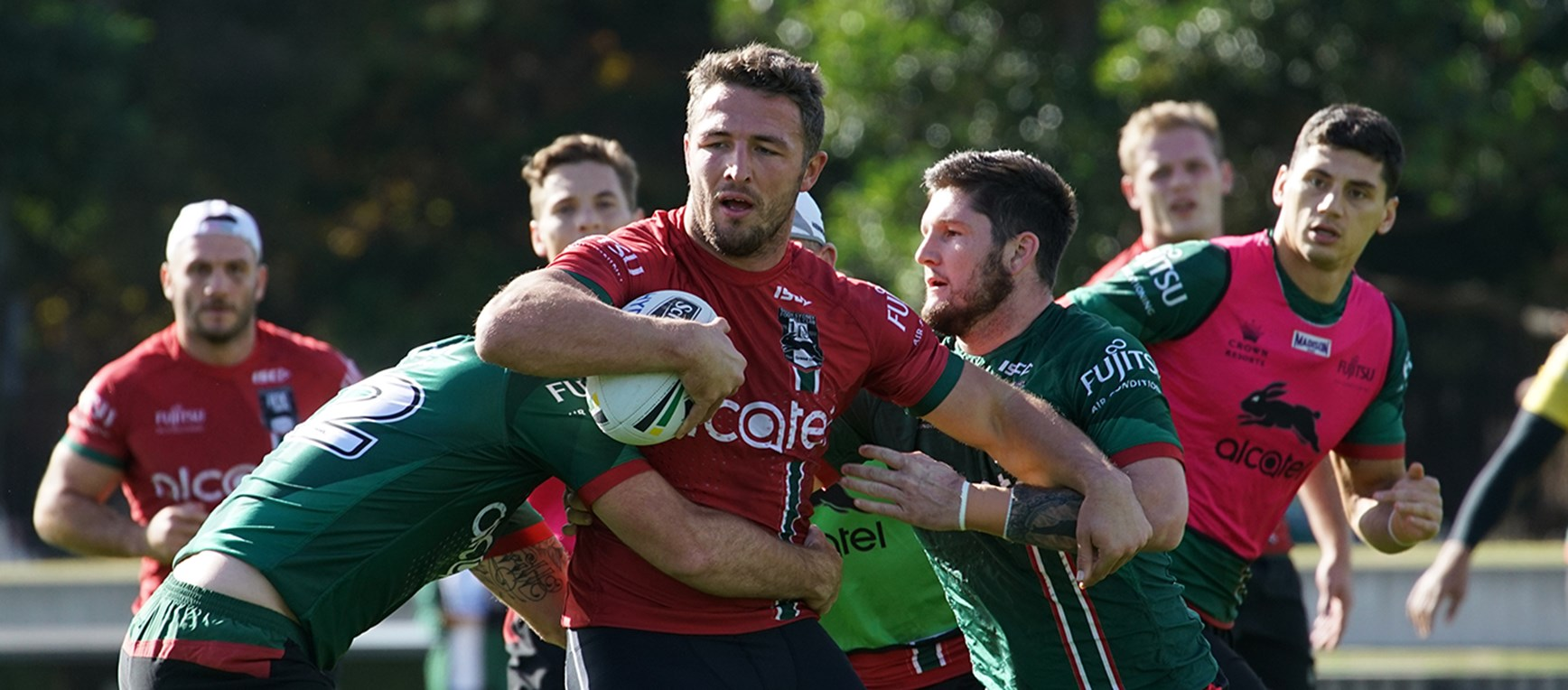 Gallery - Rabbitohs rip in ahead of Titans challenge