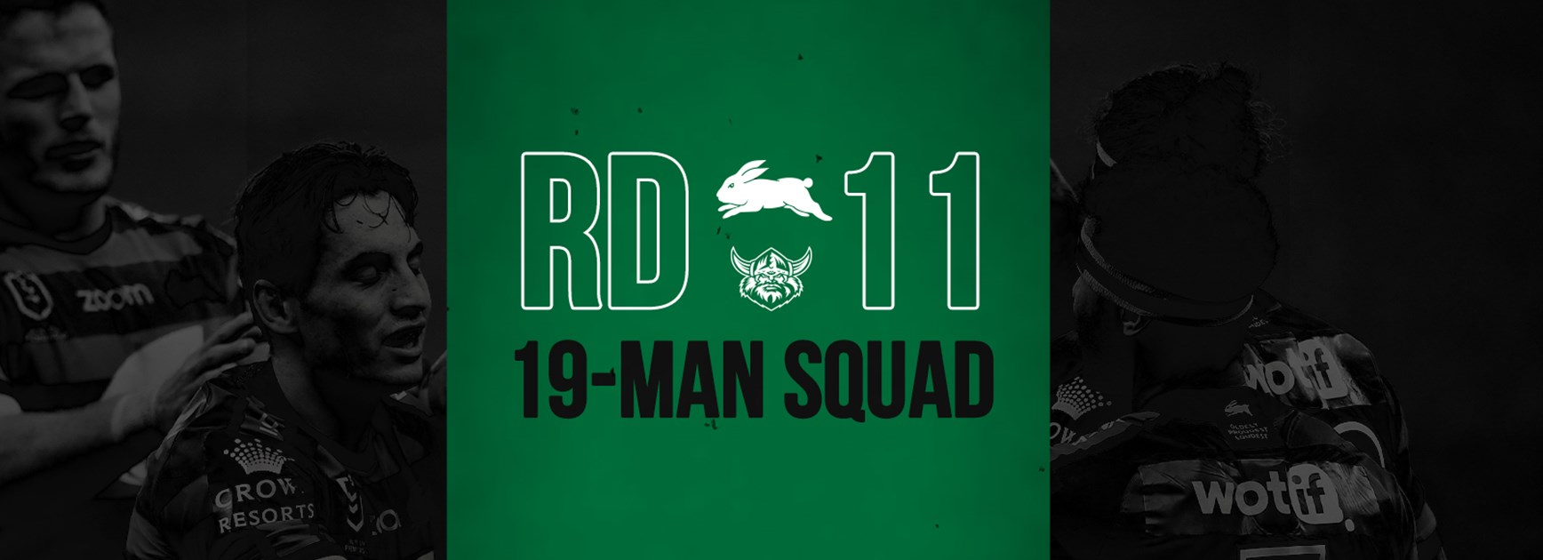 Rabbitohs update 19-man squad for round 11
