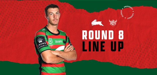 Rabbitohs Team List for Round Eight