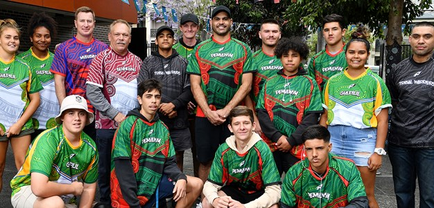 NRL Players Celebrate With Souths Cares Students