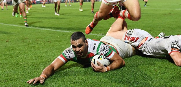 Inglis try sets up tense finish against Dragons