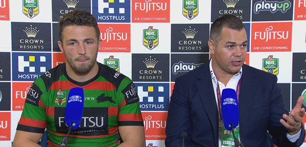 Burgess and Seibold speak to the media