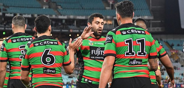 Match action: Rabbitohs v Wests Tigers