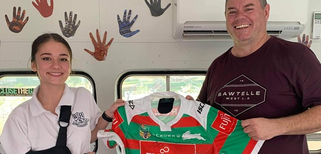 Souths Cares give back to a young fan whose had it tough of late