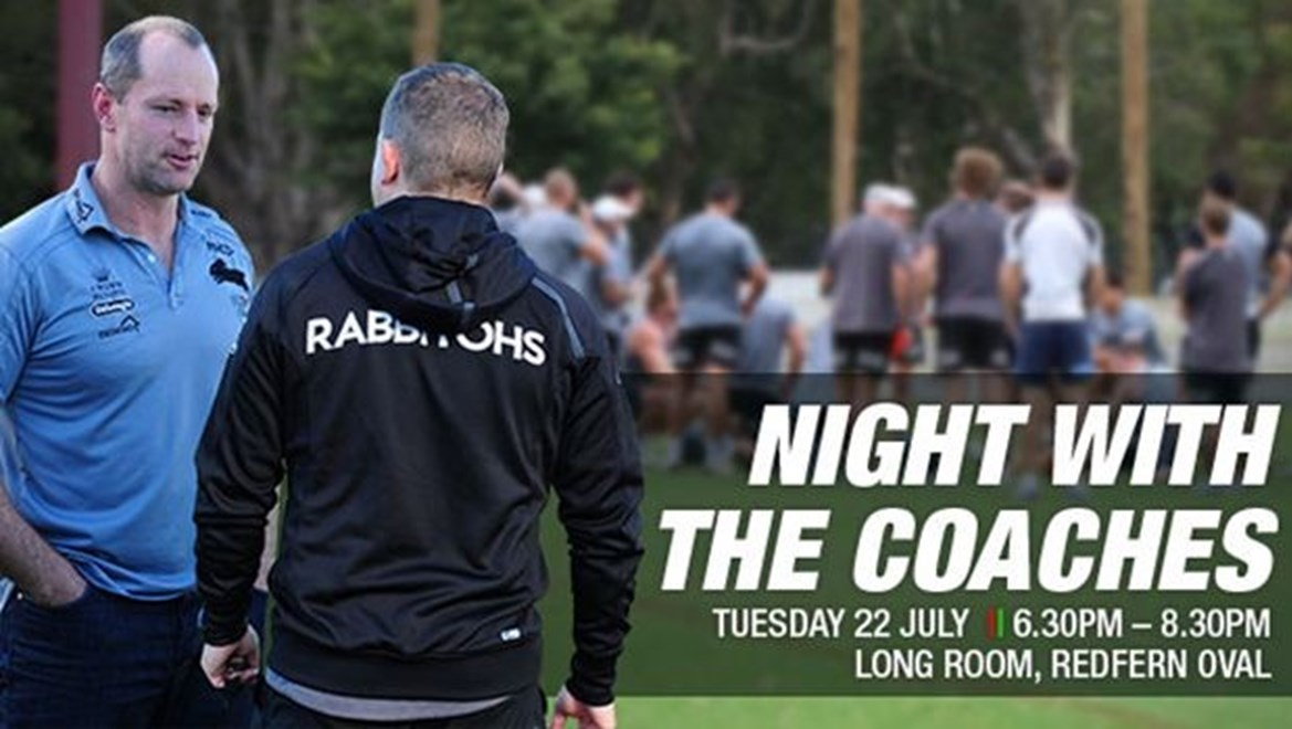A Night With The Coaches On Sale Now Rabbitohs