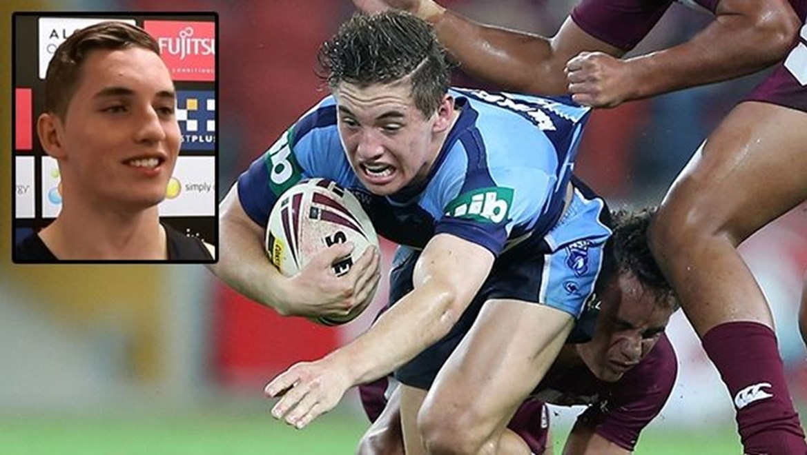 Digital Image by Robb Cox ©nrlphotos.com: :Representative Rugby League;  QLD V NSW Under 16s at Suncorp Stadium, Brisbane. Wednesday the 28th of May 2014.