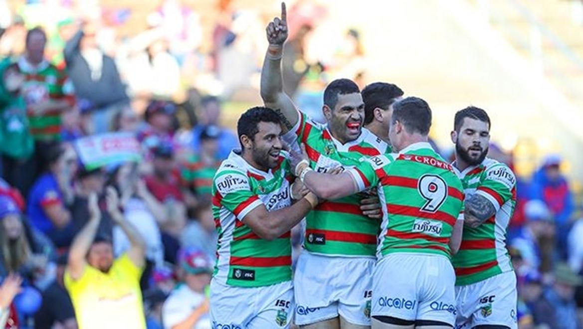 Competition - NRL Premiership Round. Round - Round 25. Teams - Newcastle Knights v South Sydney Rabbitohs. Date - 28th of August 2016. Venue - Hunter Stadium, Broadmeadow, NSW. Photographer - Paul Barkley.