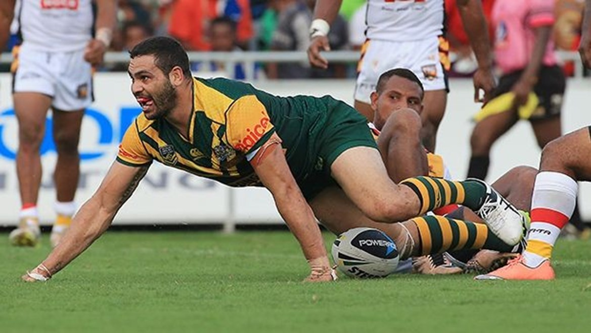 during the Kumuls v PM's XIII at the National Stadium, Port Moresby, Papua New Guinea. pic Mark Evans